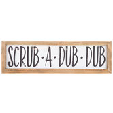Scrub-A-Dub-Dub Wood Wall Decor